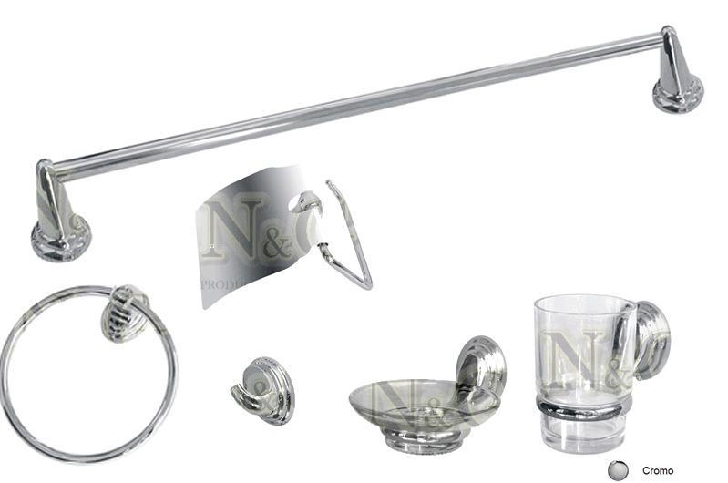 Kit De Griferia Para Baño:Juego De Griferia Para Baño Modelo Grey Cierre Ceramico + Kit De