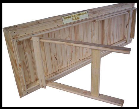 Mesa madera tablon caballetes patas plegables quincho - Como hacer una mesa abatible ...